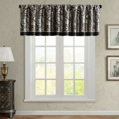 Madison Park Aubrey Window Valance in Black