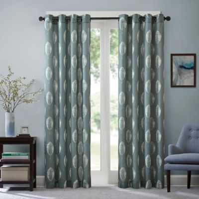 Madison Park Ketsia 84-Inch Window Curtain Panel in Blue