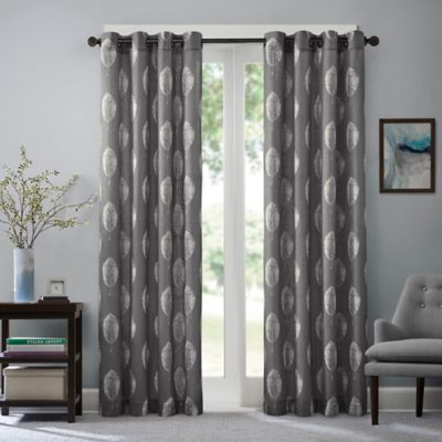 Madison Park Ketsia 84-Inch Window Curtain Panel in Charcoal
