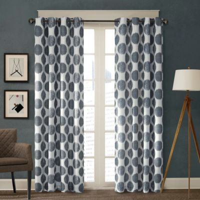 Madison Park Maru 84-Inch Window Curtain Panel in Gold
