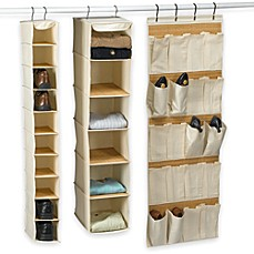 Bamboo Shoe and Sweater Shelves