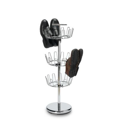 3-Tier Chrome Revolv in g Shoe Rack