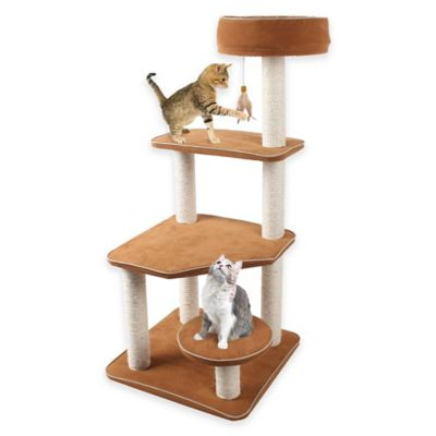 Cat-Life Staircase Activity Center in Brown