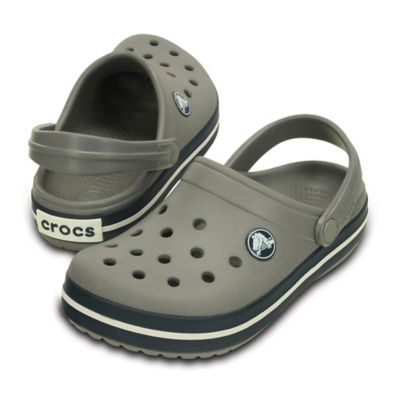 Crocs™ Size 4-5 Kids' Crocband™ Clog in Smoke/Navy