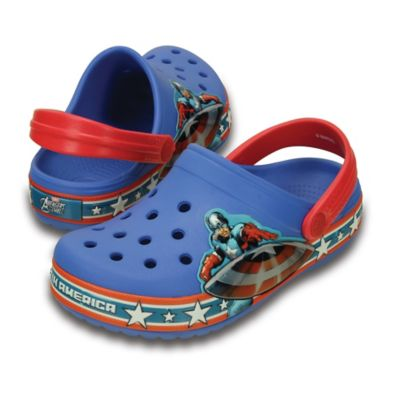 Crocs™ Kids' Size 8-9 Captain America™ Crocband™ Clog in Blue