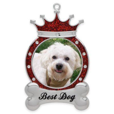 "Crystals from Swarovski® Harvey Lewis™ ""Best Dog"" Pet Frame Christmas Ornament"