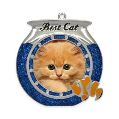 "Crystals from Swarovski® Harvey Lewis™ ""Best Cat"" Pet Frame Christmas Ornament"