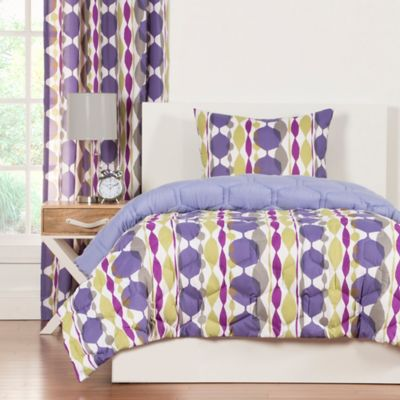Crayola® Bejeweled 2-Piece Reversible King Comforter Set in Purple