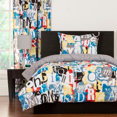 Crayola® Dream On Reversible Full/Queen Comforter Set