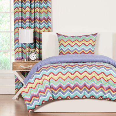 Crayola® Mixed Palette Chevron 3-Piece Reversible King Comforter Set