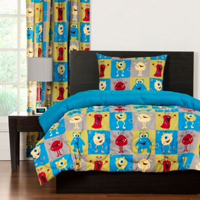 Crayola® Monster Friends 2-Piece Reversible Twin Comforter Set in Blue
