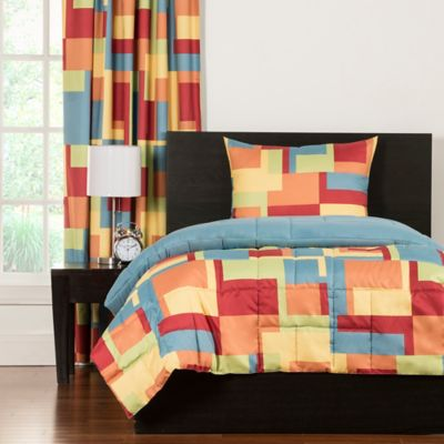 Crayola® Paint Box Reversible Twin Comforter Set