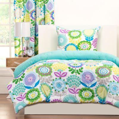 Crayola® Pointillist Pansy Reversible Full/Queen Comforter Set