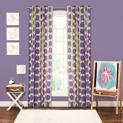Crayola® Bejeweled Rod Pocket 84-Inch Window Panel in Purple