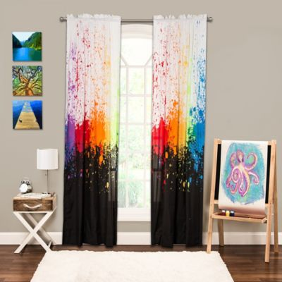 Crayola® Cosmic Burst 84-Inch Rod Pocket Window Panel in Black