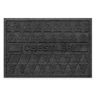 Weather Guard™ 23-Inch x 36-Inch Pine Trees Holiday Door Mat in Charcoal