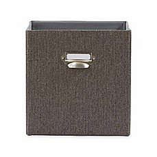 Real Simple® Herringbone Fabric Storage Bin in Brown