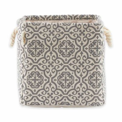 Real Simple® Knock Down Storage Tote with Rope Handles in Irving Grey