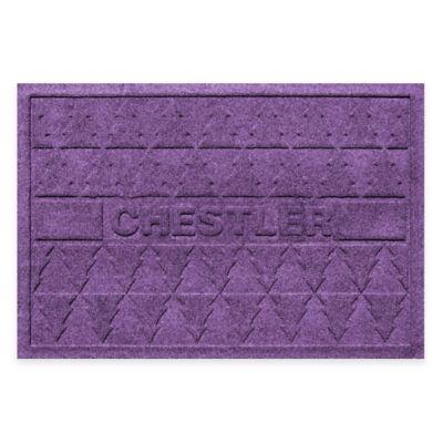 Bungalow Flooring Weather Guard™ 23-Inch x 36-Inch Pine Trees Holiday Door Mat in Purple