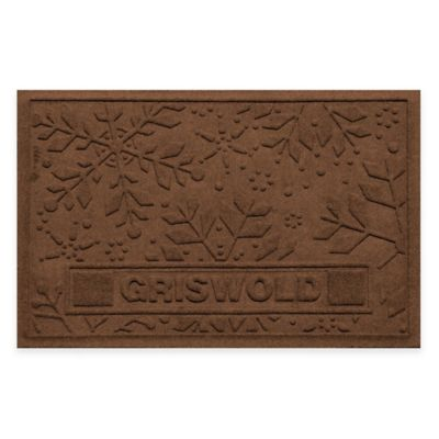 Bungalow Flooring Weather Guard™ 23-Inch x 36-Inch Holiday Snowflake Door Mat in Dark Brown