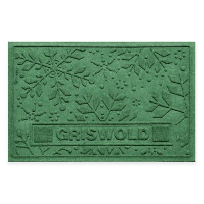Bungalow Flooring Weather Guard™ 23-Inch x 36-Inch Holiday Snowflake Door Mat in Light Green