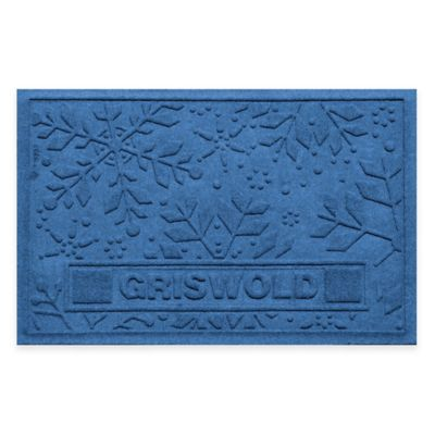 Bungalow Flooring Weather Guard™ 23-Inch x 36-Inch Holiday Snowflake Door Mat in Medium Blue