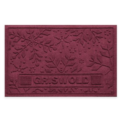 Bungalow Flooring Weather Guard™ 23-Inch x 36-Inch Holiday Snowflake Door Mat in Bordeaux