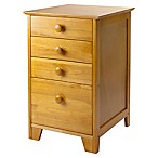 Pine File Cabinet and Drawer Unit