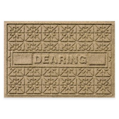 Bungalow Flooring Weather Guard™ Star Quilt 23-Inch x 36-Inch Holiday Door Mat in Camel