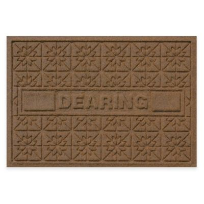 Bungalow Flooring Weather Guard™ Star Quilt 23-Inch x 36-Inch Holiday Door Mat in Dark Brown