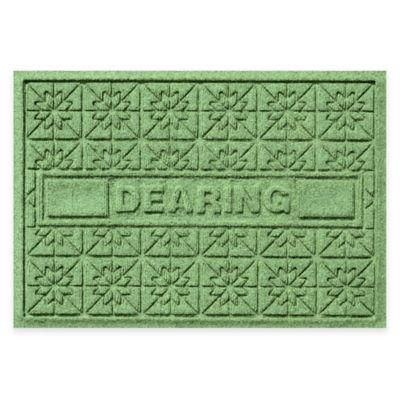 Bungalow Flooring Weather Guard™ Star Quilt 23-Inch x 36-Inch Holiday Door Mat in Light Green