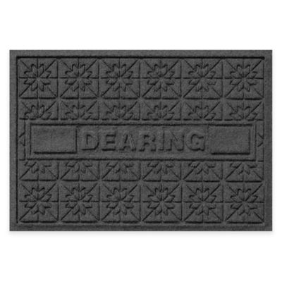 Bungalow Flooring Weather Guard™ Star Quilt 23-Inch x 36-Inch Holiday Door Mat in Charcoal