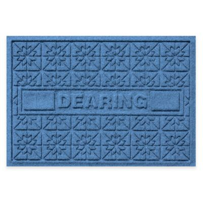 Bungalow Flooring Weather Guard™ Star Quilt 23-Inch x 36-Inch Holiday Door Mat in Medium Blue