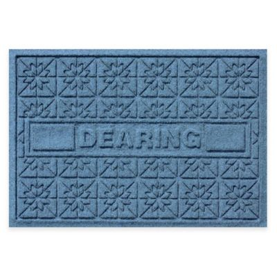 Bungalow Flooring Weather Guard™ Star Quilt 23-Inch x 36-Inch Holiday Door Mat in Blue Stone