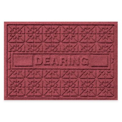Bungalow Flooring Weather Guard™ Star Quilt 23-Inch x 36-Inch Holiday Door Mat in Bordeaux