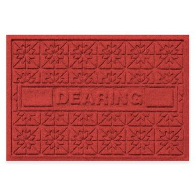 Bungalow Flooring Weather Guard™ Star Quilt 23-Inch x 36-Inch Holiday Door Mat in Red