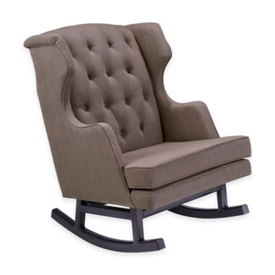 Nursery Works Empire Rocker in Hazelnut with Dark Legs