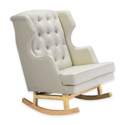 Nursery Works Empire Rocker in Oatmeal with Light Legs