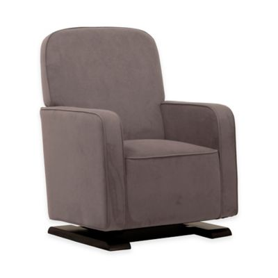 Babyletto Kyoto Glider and Ottoman Bundle in Slate