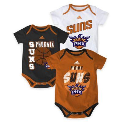 "NBA Phoenix Suns ""3 Point Spread"" Size 3-6M Bodysuit Set (Set of 3)"