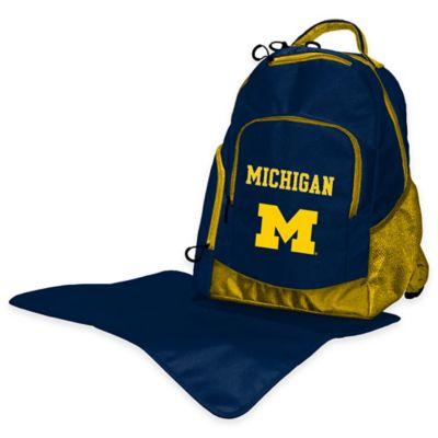 Lil Fan University of Michigan Diaper Backpack
