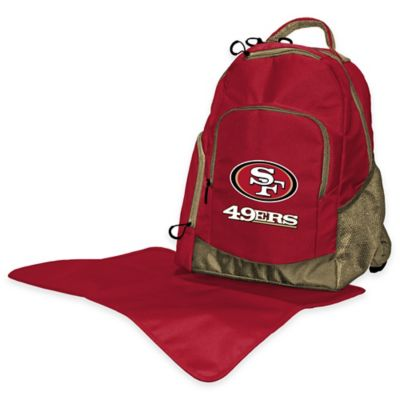Lil Fan NFL Diaper Backpack Collection > Lil Fan NFL San Francisco 49ers Diaper Backpack