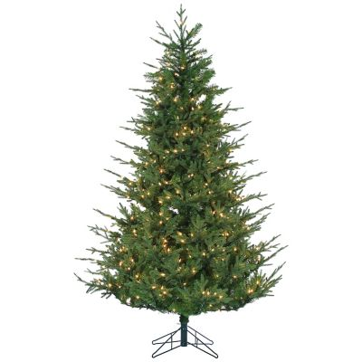 Upswept Chesterfield Spruce 7.5-Foot Pre-Lit Christmas Tree with Clear Lights