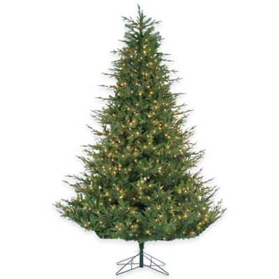 Upswept Chesterfield Spruce 9-Foot Pre-Lit Christmas Tree with Clear Lights