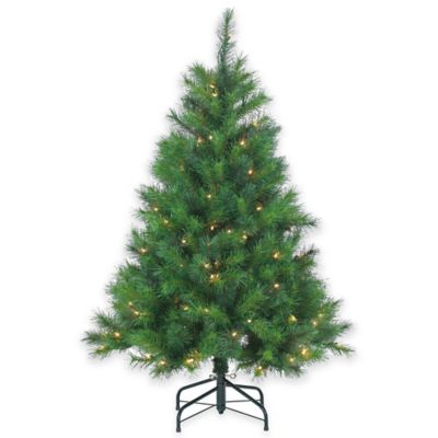 Wisconsin Spruce 4.5-Foot Pre-Lit Christmas Tree with Clear Lights