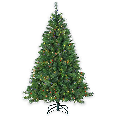Wisconsin Spruce 6.5-Foot Pre-Lit Christmas Tree with ...