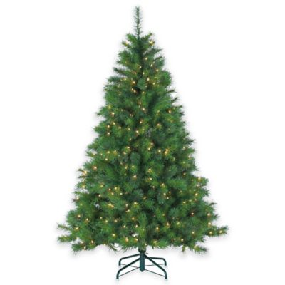 Wisconsin Spruce 6.5-Foot Pre-Lit Christmas Tree with Multi-Color Lights