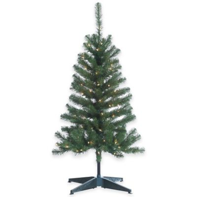 Cumberland Pine 4-Foot Pre-Lit Christmas Tree with Clear Lights