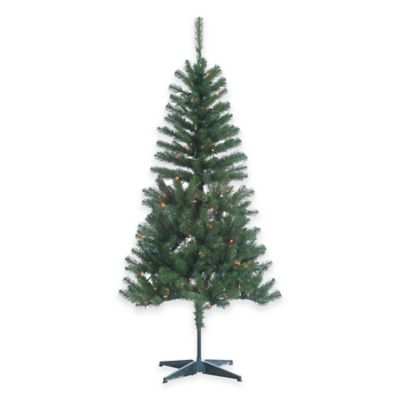 Cumberland Pine 7-Foot Pre-Lit Christmas Tree with Multi-Color Lights