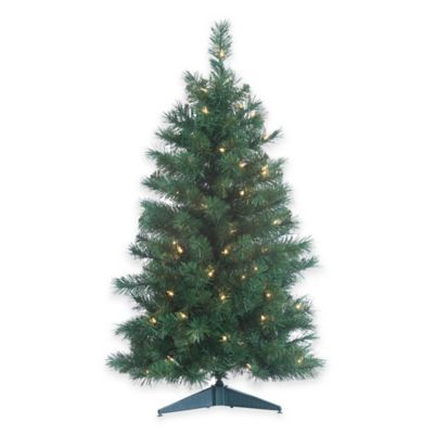 Colorado Spruce 3-Foot Pre-Lit Christmas Tree with Clear Lights